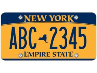 New York State Licence Plate