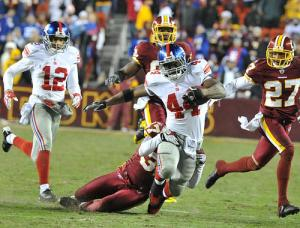 New York Giants RB Ahmad Bradshaw