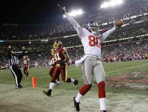 New York Giants Derek Hagan Touchdown