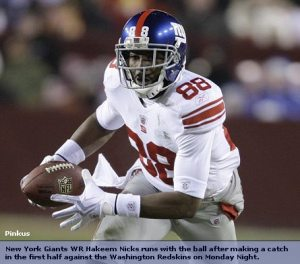 New York Giants WR Hakeem Nicks