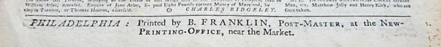 Benjamin Franklin Printing