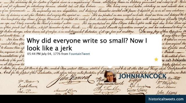 Hancock Tweets