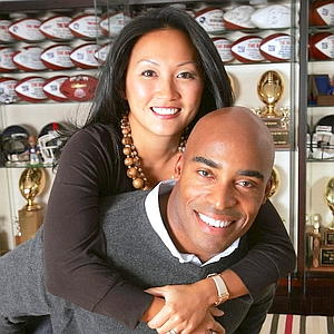Tiki Barber and his wife