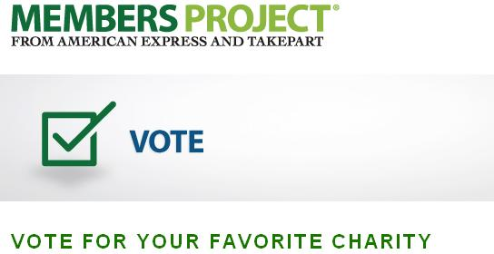 vote for your favorite charity american express avi 39 s cogitations. Black Bedroom Furniture Sets. Home Design Ideas