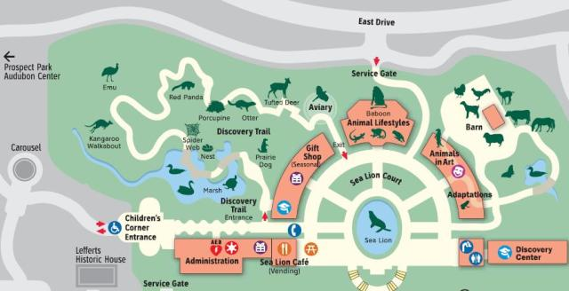 Prospect Park Zoo Map